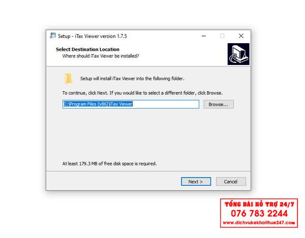 Bước 4 Hướng dẫn Download tải và cài đặt phần mềm iTaxViewer Mới Nhất Tổng Cục Thuế 2021